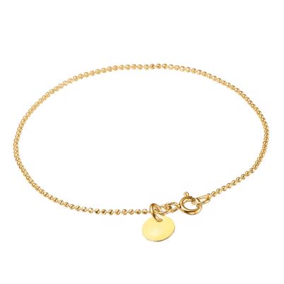 Enamel Copenhagen Ball Chain Armbånd Light Yellow