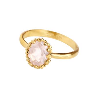 Carré Gilded Marvels Forgyldt Ring Rosa