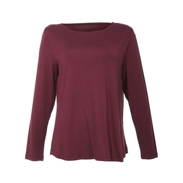 Comfy Copenhagen bluse still off the night burgundy