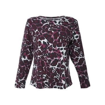 Comfy Copenhagen bluse still off the night leopard