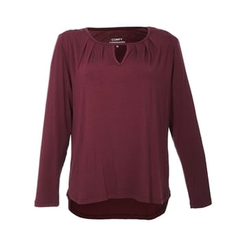 Comfy Copenhagen bluse Is this love burgundy