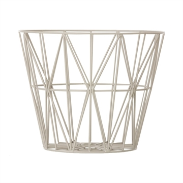 Ferm Living Wire Basket Grå Medium