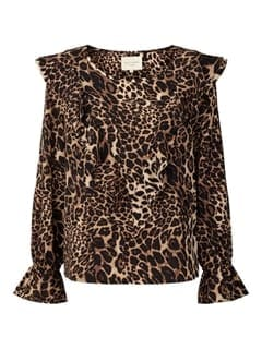 Lollys Laundry Jessie Bluse Leopard