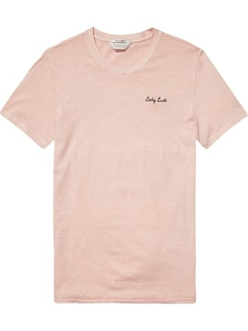 Scotch And Soda Garment T-shirt Lady Luck Rosa