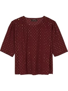 Scotch and Soda Lurex Top Bordeaux