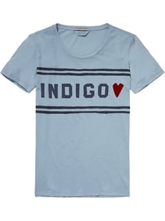 Scotch and Soda Indigo T-shirt Lyseblå
