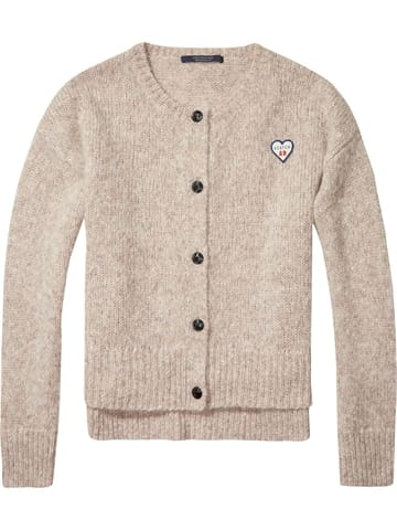 Scotch and Soda Denim Loose Fitted Cardigan Sand