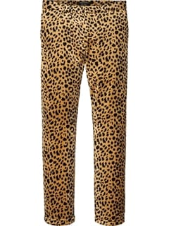 Scotch and Soda Embroided Velvet Chino Bukser Leopard