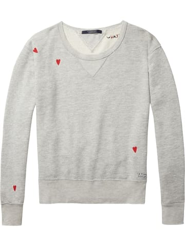 Scotch and Soda Embroided Hjerte Sweatshirt Grå