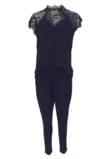 Neo Noir Neith Lace Jumpsuit Navy