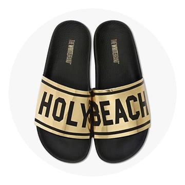 The White Brand Holy Beach Sandaler Sort-Guld