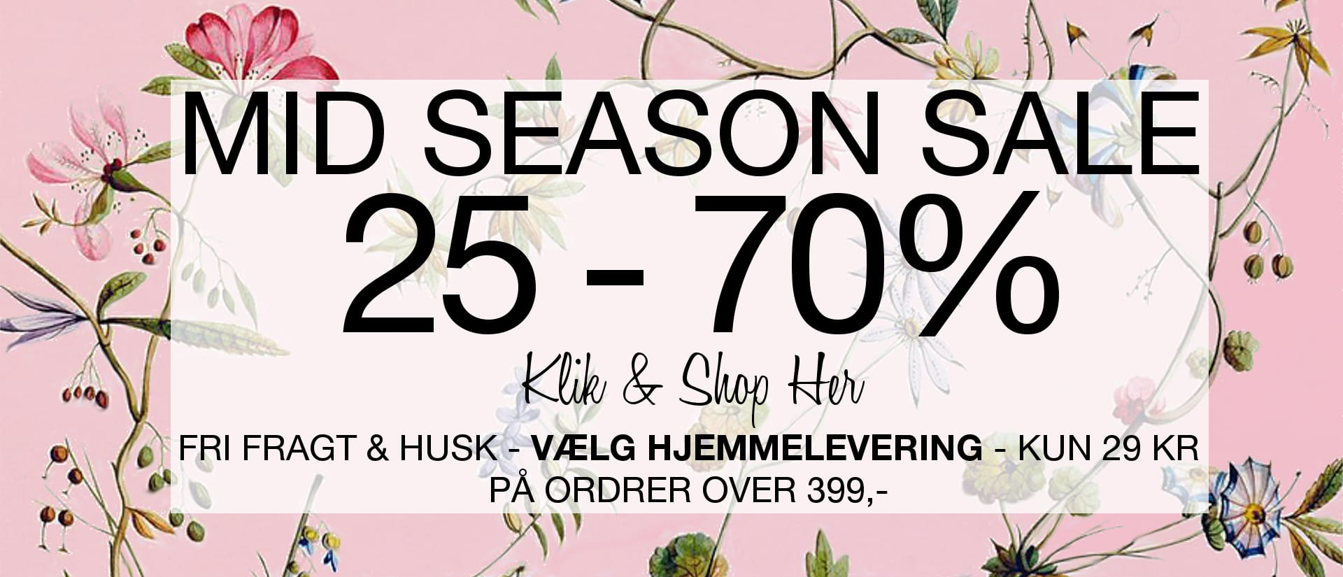 Mid Season Sale - Spar 25 - 70%