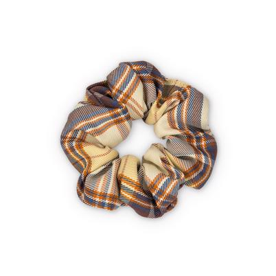 Sui Ava Ebba Check Scrunchie Brown