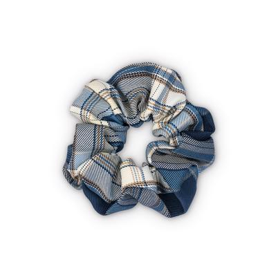 Sui Ava Ebba Check Scrunchie Dark Blue