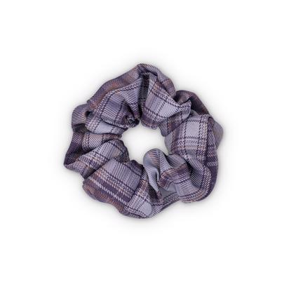 Sui Ava Ebba Check Scrunchie Dark Purple