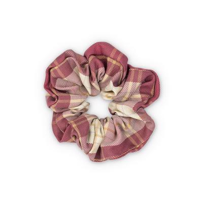 Sui Ava Ebba Check Scrunchie Dark Rose