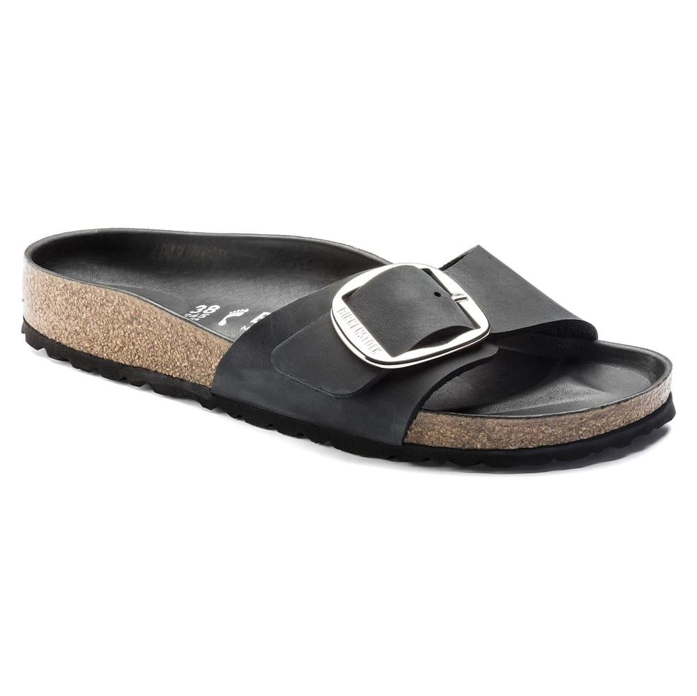 668c9207e604 Madrid Big Buckle Sandaler Sort ♥ Køb Birkenstock