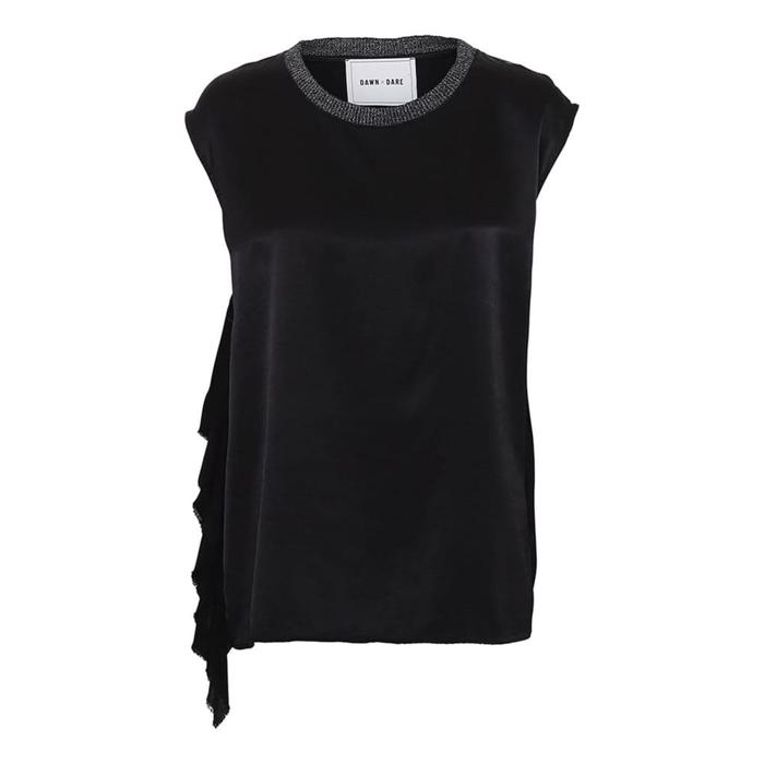 Dawn x Dare Celine Flare Top Black