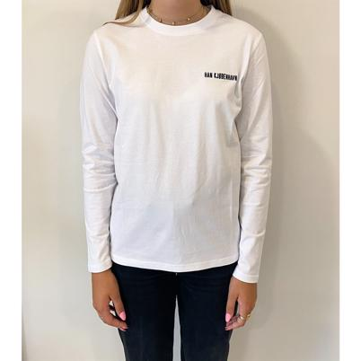 Han Kjøbenhavn Casual Long Sleeve T-shirt White Logo