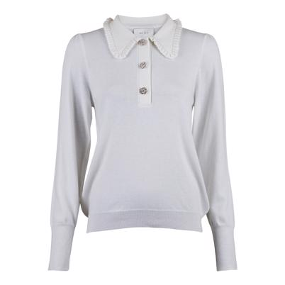 Neo Noir Gemma Diamond Knit Bluse Off White