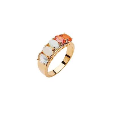 Pico Janet Crystal Ring Red Mix Guld