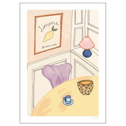 Poster And Frame Emilie Lune The Livingroom 03 Plakat 50 x 70 cm