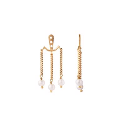 Stine A Dancing Three Pearls Behind Ear Ørering Guld