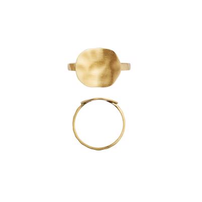 Stine A Hammered Coin Ring Guld