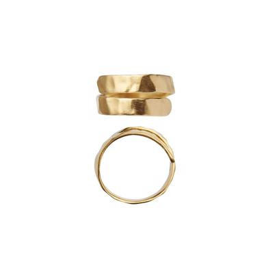 Stine A Hammered Open Ring Guld