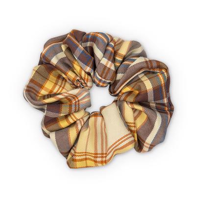 Sui Ava Ebba Check Scrunchie Big Brown