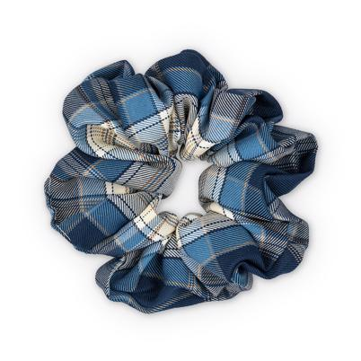 Sui Ava Ebba Check Scrunchie Big Dark Blue
