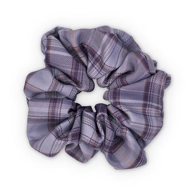 Sui Ava Ebba Check Scrunchie Big Dark Purple