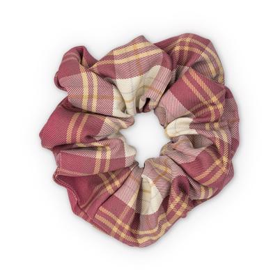 Sui Ava Ebba Check Scrunchie Big Dark Rose