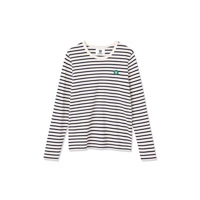 Wood Wood Moa Bluse Off White Navy Stripes